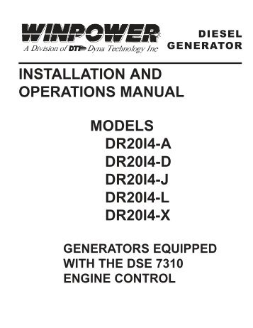 OPERATOR'S MANUAL Generator Paralleling Controller, GPC-3
