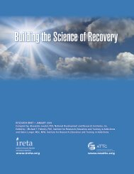 Building the Science of Recovery - the ATTC Network
