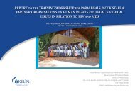 report on the training workshop for paralegals, ncck staff - Kelin