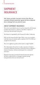 DHL Shipment Insurance Leaflet - Page 2