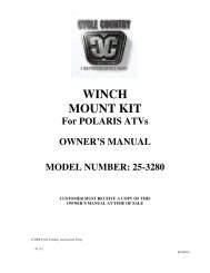 owners manual cc25-3280 - winch mount kit pol - Schuurman B.V.