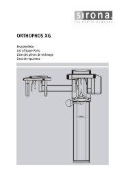 ORTHOPHOS XG - Sirona Support