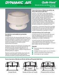Quik-Vent® Válvula de Alívio de Vácuo/Pressão ... - Dynamic Air Inc.