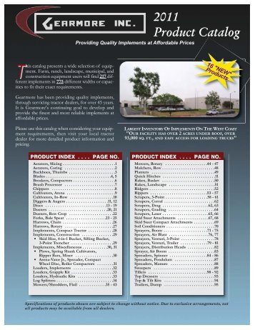 2011 Product Catalog - Gearmore, Inc.