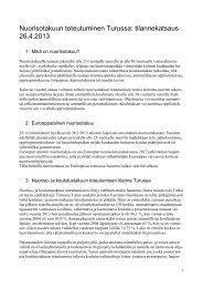 Nuorisotakuun toteutuminen Turussa: tilannekatsaus 26.4 ... - Turku