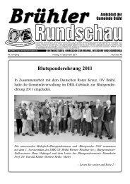 Blutspenderehrung 2011 - Gemeinde Brühl