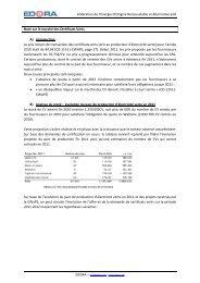 Fédération de l'Energie D'Origine Renouvelable et ... - Edora