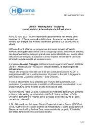 JIM EV - Meeting Italia - Giappone veicoli elettrici, le ... - H2Roma