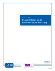 CDC HL7 2.5.1 Implementation Guide