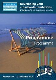 Programme - 2 Mers Seas Zeeën INTERREG IV A