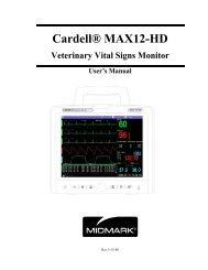 Cardell MAX-12 HD - Veterinary Instrumentation