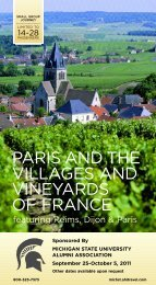 paris and the villages and vineyards of france - MSU Alumni ...