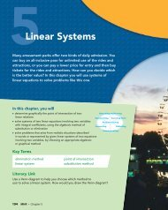 Chapter 5 Linear Systems - McGraw-Hill Ryerson