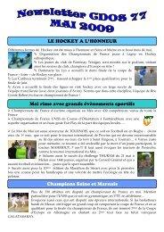 Newsletter N°16 : Mai 2009 - CDOS 77