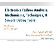 Electronics Failure Analysis: Common Mechanisms ... - DfR Solutions