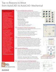Top Ten Reasons to Buy AutoCAD Mechanical ... - Applied Software