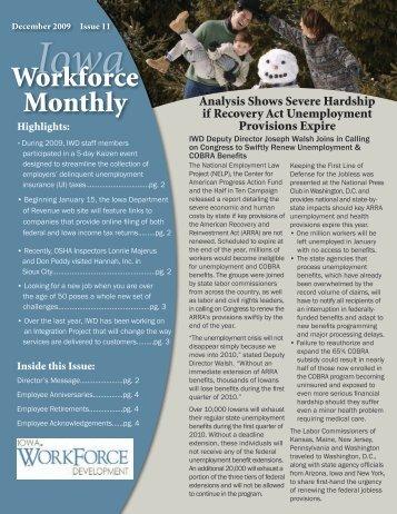 December 2009- Issue 11 - Iowa Workforce Development