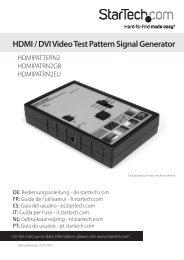 HDMI / DVI Video Test Pattern Signal Generator - StarTech.com