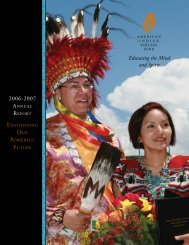 Educating the Mind and Spirit 2006-2007 - American Indian College ...