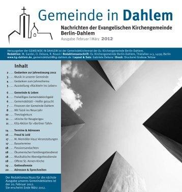 März 2012 (pdf) - Ev. Kirchengemeinde Berlin-Dahlem
