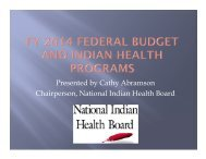 NIHB Presentation FY federal 2014 budget and Indian health ...