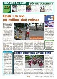 Haïti, un an et demi après - L'Avenir