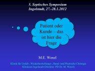 Patient oder Kunde das ist hier die Frage - Septische Chirurgie