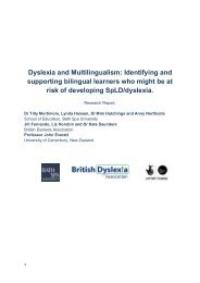 Dyslexia and Multilingualism - The British Dyslexia Association