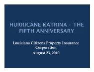 Hurricane Katrina - Louisiana Department of Insurance