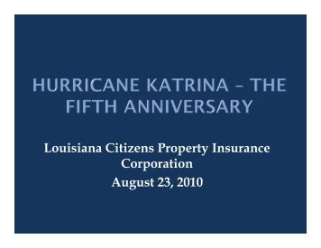 Hurricane Katrina - Louisiana Department of Insurance