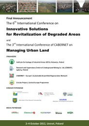 Innovative Solutions for Revitalization of Degraded Areas