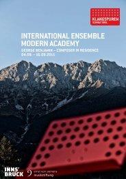 international ensemble modern academy - Klangspuren Schwaz
