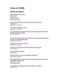 2008 Graduating Class Awards and Scholarships - Bishop Loughlin ...