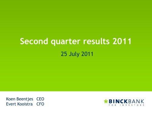 Presentation - at BinckBank