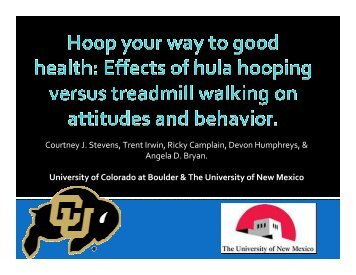 Effects of Hula Hooping Versus Treadmill Exercise on Attitudes and