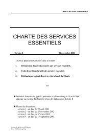 CHARTE DES SERVICES ESSENTIELS - Euromedina