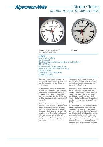 Studio-Uhren - Alpermann + Velte