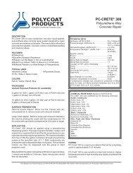 PC-Crete 300 - Polycoat Products