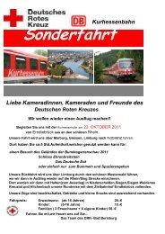 Rot-Kreuz-Zug - DRK-Kreisverband Siegen-Wittgenstein