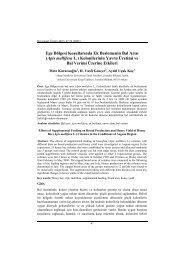 Ege Bölgesi Koşullarında Ek Beslemenin Bal Arısı (Apis mellifera L ...