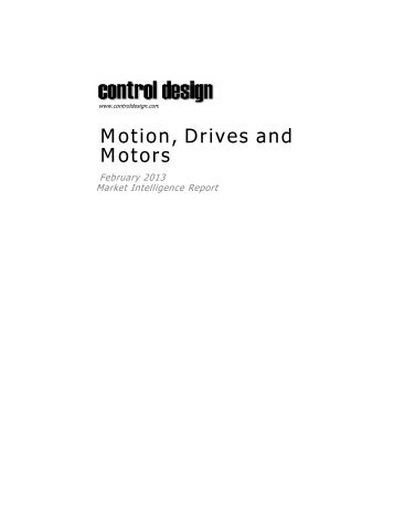 Motion, Drives and Motors - Control Design