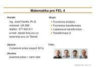Matematika pro FEL 4