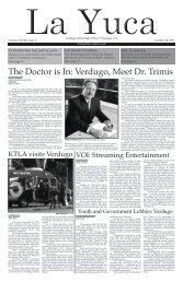 The Doctor is In: Verdugo, Meet Dr. Trimis - Verdugo Hills High School