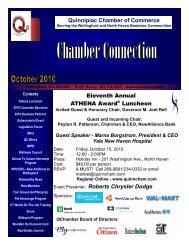 October 2010 Newsletter - The Quinnipiac Chamber of Commerce