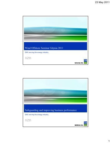 1. Wind Offshore Seminar Gdynia 2011 - DNV