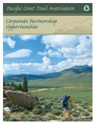 Corporate Partnership Packet - Pacific Crest Trail Association