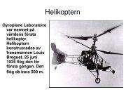 Helikopterns historia - Teknik från Lillåns skola