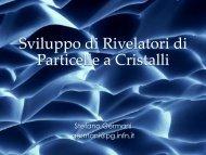 Sviluppo di Rivelatori di Particelle a Cristalli - SuperB - Infn