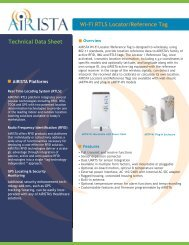 Wi-Fi RTLS Locator/Reference Tag Technical Data Sheet - AiRISTA