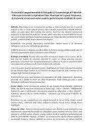 Protocolul osteonecrozelor aseptice, periartrozelor si soldului in resort